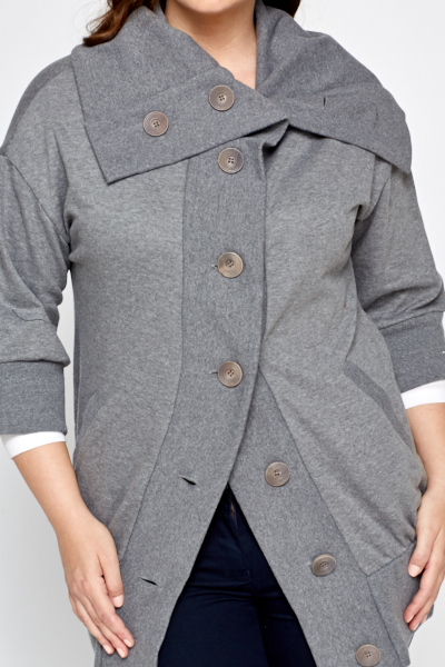 Grey Button Up Jacket