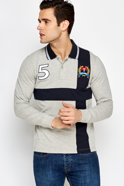 Logo Contrast Rugby Top