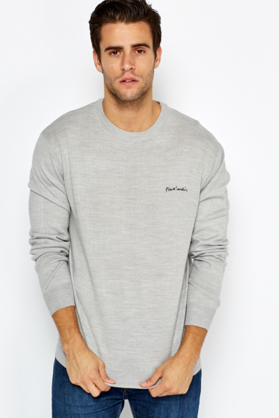 Ribbed Neck Pullover