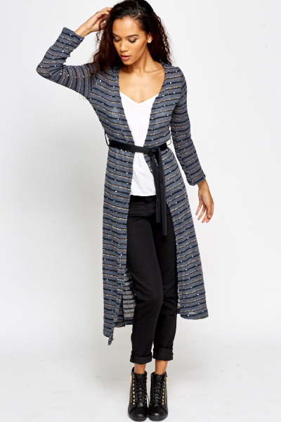 3f18250fa Metallic Belted Long Cardigan - Just £5