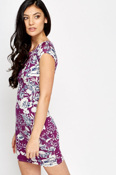 Purple Multi Floral Dress