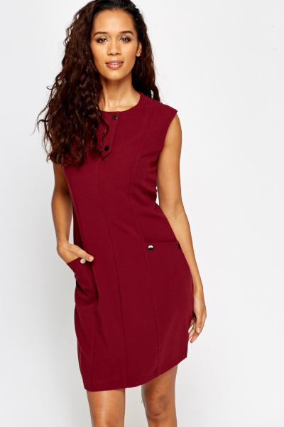 Sleeveless Detail Shift Dress