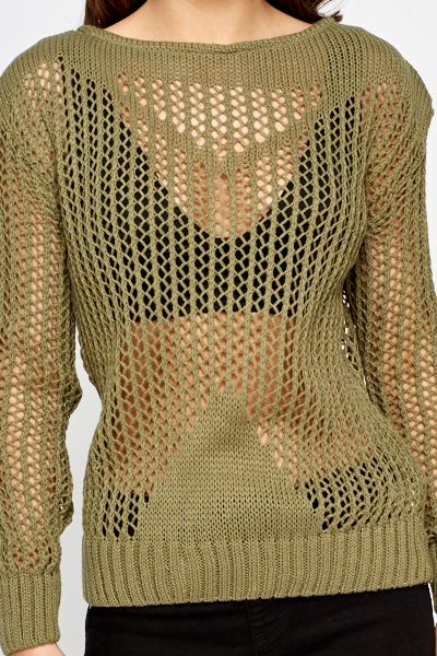 Perforated Chunky Knit Jumper