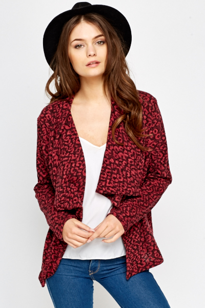 Waterfall Leopard Print Cardigan