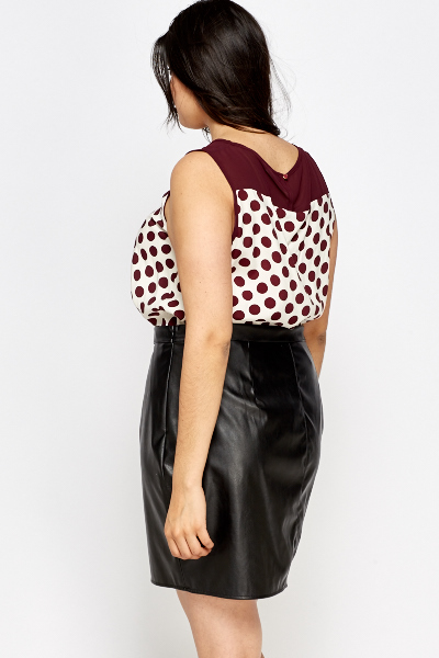 Crochet Insert Polka Dot Top