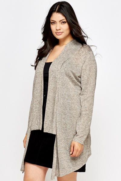 Latte Asymmetric Cardigan