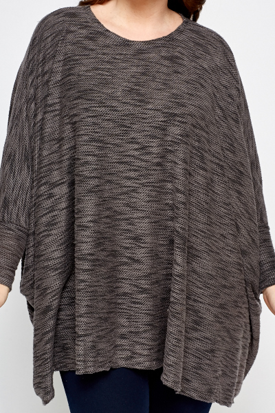 Speckled Box Knit Top