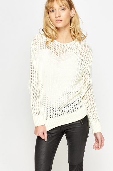 Heart Loose Knit Jumper