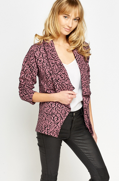 Light Rose Waterfall Cardigan