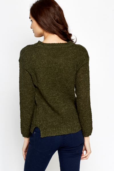 Loose Bobble Knit Jumper