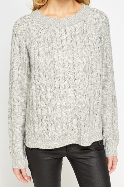 Two Tone Round Neck Jumper