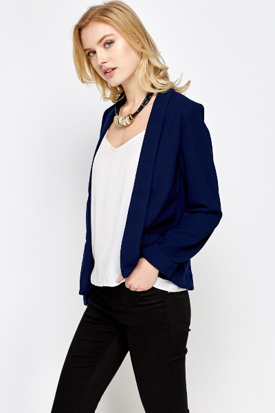 Dark Blue Open Blazer