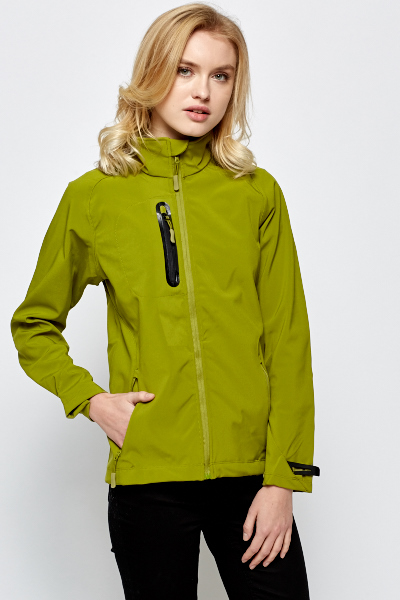 Green Moss High Neck Jacket