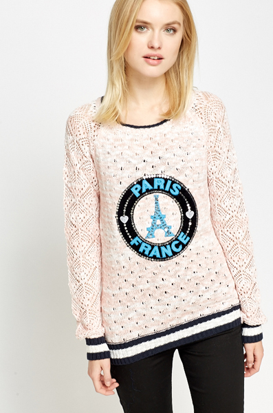 Paris Crochet Sleeve Jumper