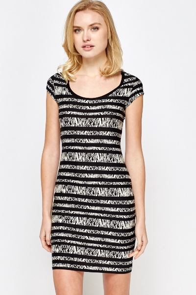 Zebra Print Bodycon Dress