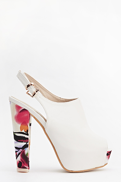 Brush Print High Slingbacks