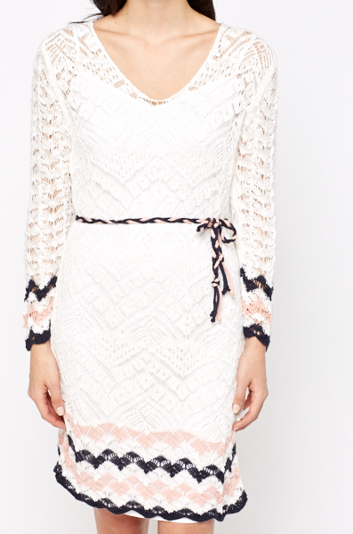 Sheer Knit Over Up Dress