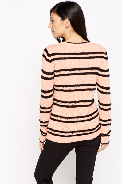 Studded Printed Coral Jumper