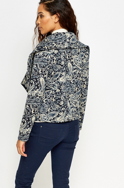 Waterfall Mono Paisley Jacket