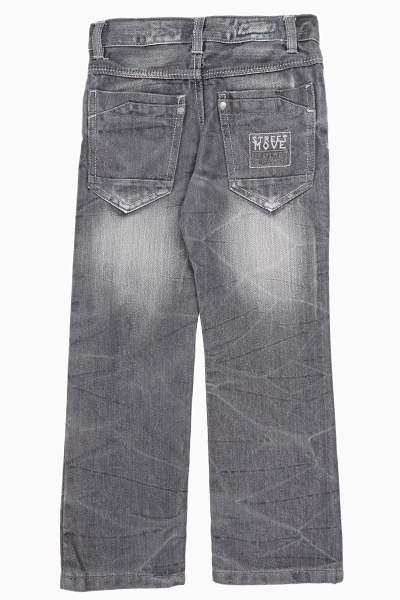 Grey Boys Faded Jeans