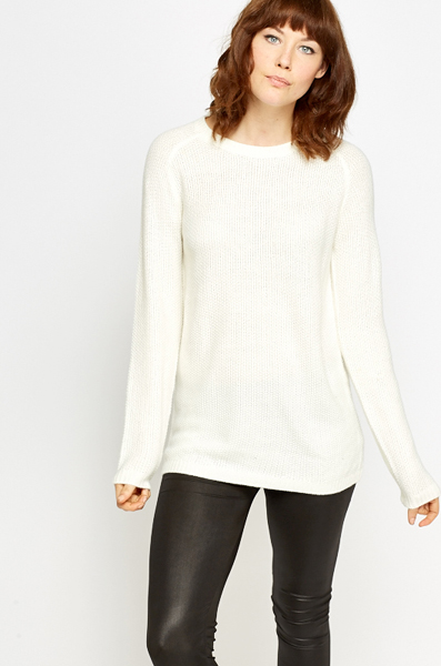 Long Ribbed Jumper