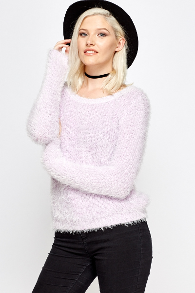 Lilac Eyelash Knit Jumper
