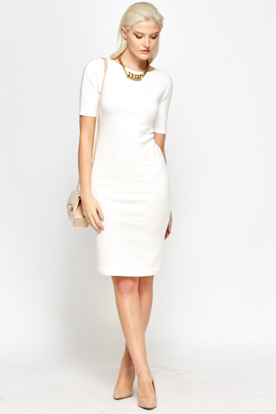 White Midi Dress Just 163 5