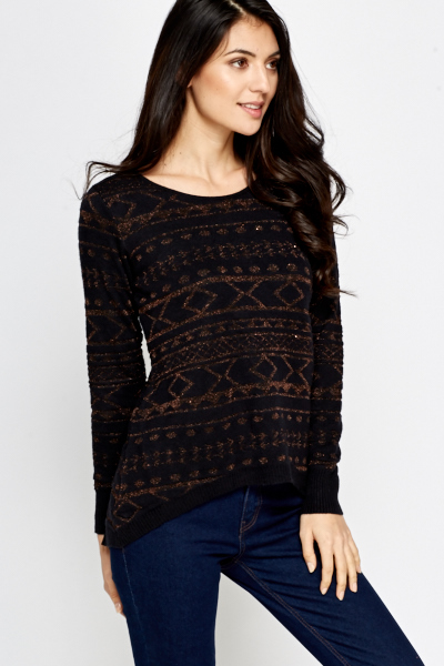Aztec Metallic Jumper