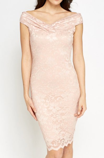 Bardot Lace Midi Dress