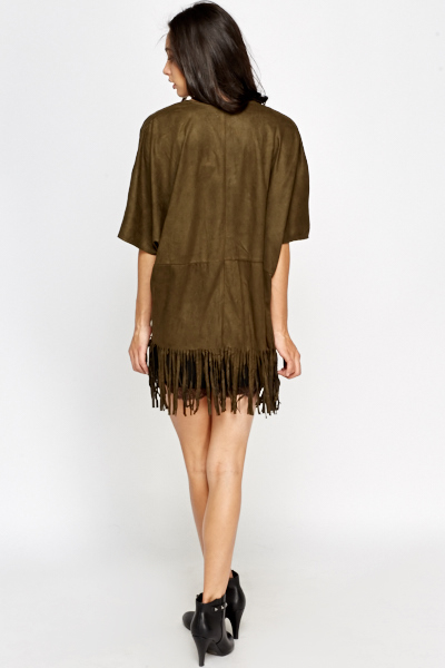Encrusted Fringed Cardigan