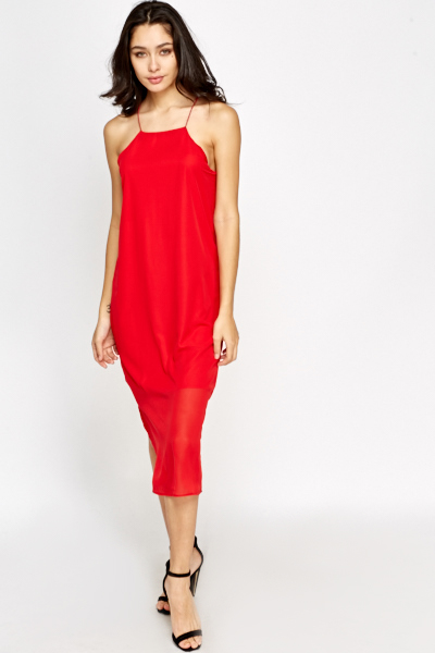 Spaghetti Strap Midi Dress