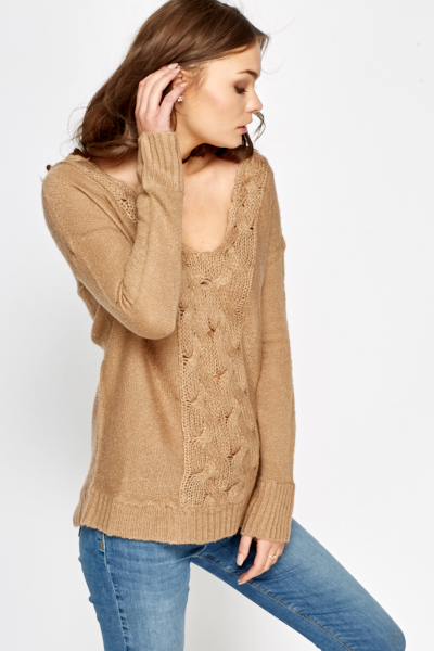 Spring Moss Scoop Neck Jumper