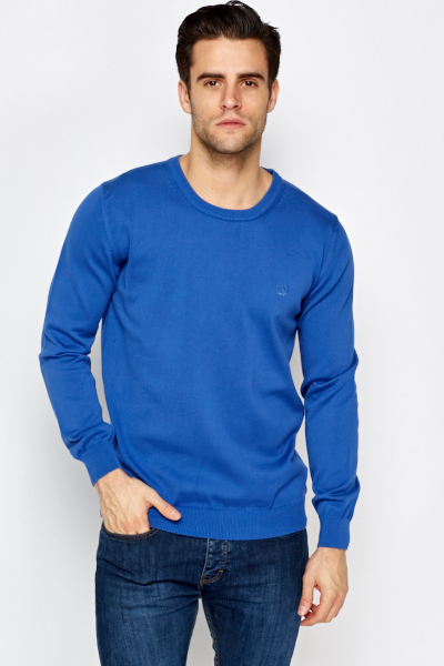 Basic Mens Ribbed Sweater
