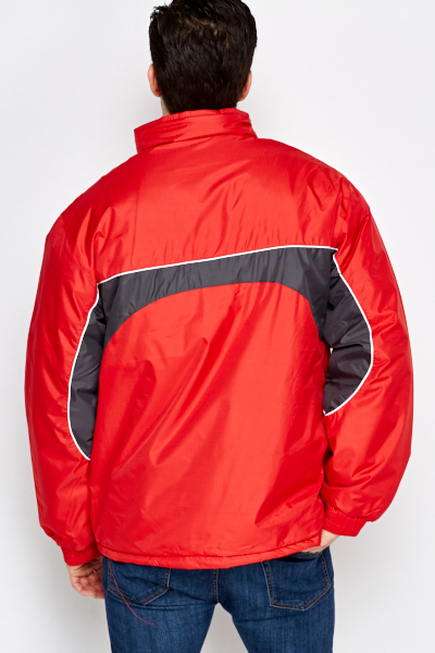 Chunky Sports Panel Coat