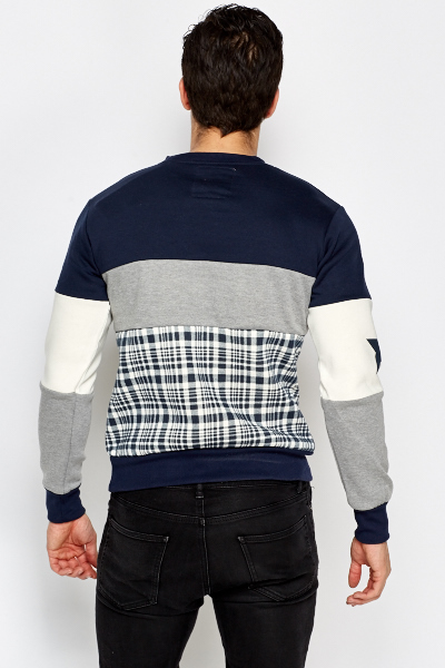 Contrast Panel Mens Jumper