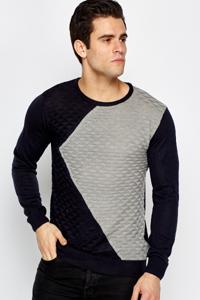 Contrast Quilted Jumper