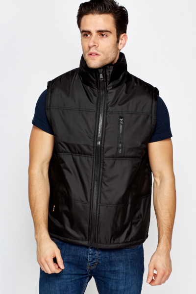 Quilted High Neck Body Warmer