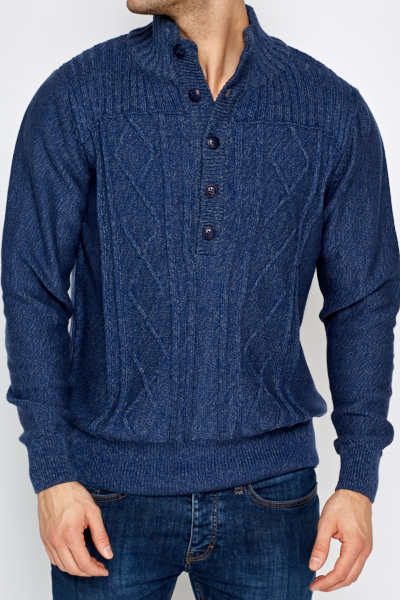 Ribbed Cotton Blend Jumper