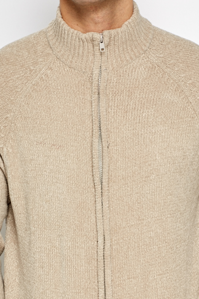 Soft Zip Up Cardigan