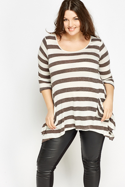 Asymmetric Striped Tunic