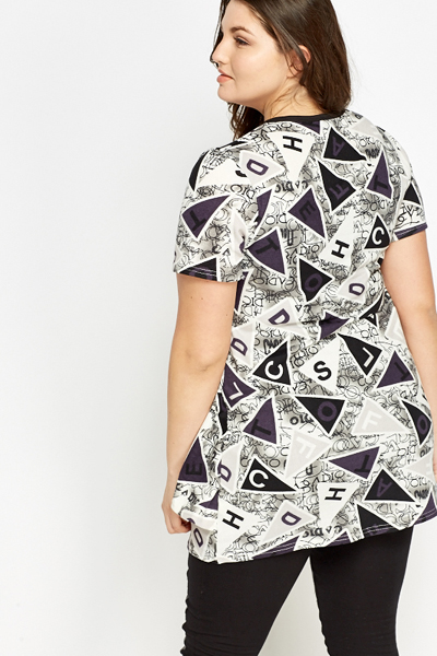 Letter Geo Print Tunic