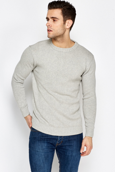 Basic Ribbed Trim Jumper