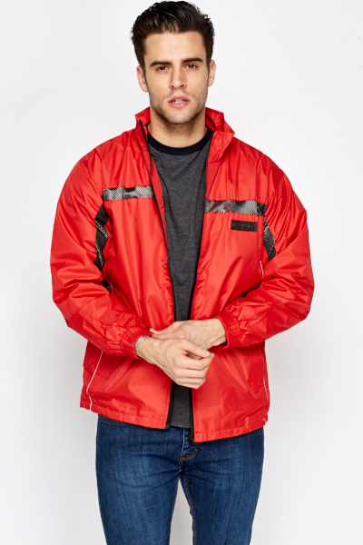 Mens Contrast Water Proof Jacket