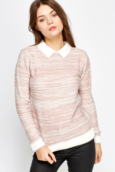 Shirt Insert Knit Jumper