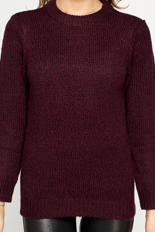 Basic Ribbed Knit Sweater
