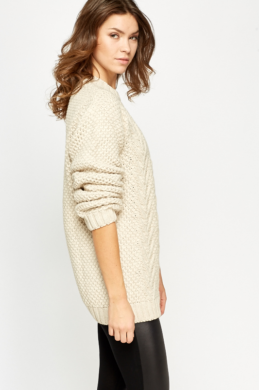 Honey Comb Pattern Knit Jumper