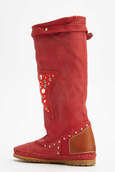 Front Studded Star Boots