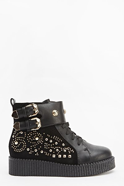Studded Side Platform Trainers