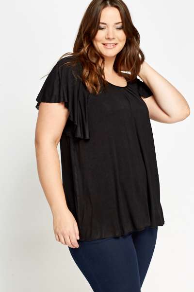 Black Frill Top