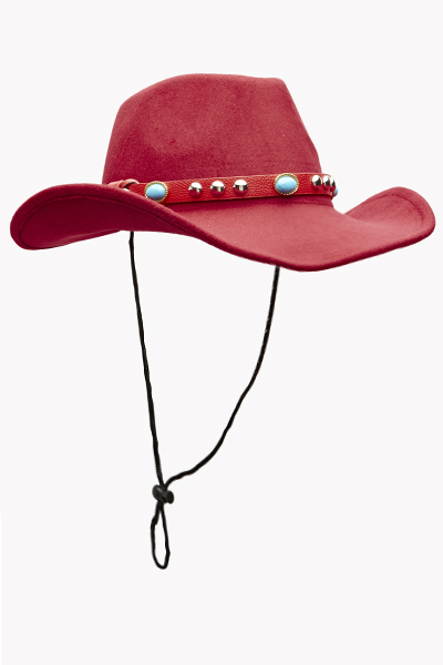 Gem Embellished Trim Hat